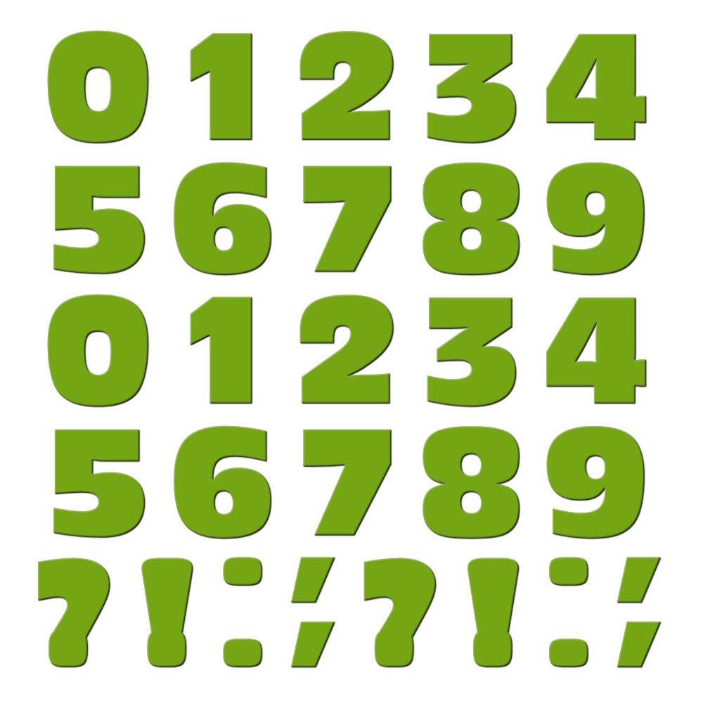 Numbers Punctuation Green MAG-NEATO'S(TM) Refrigerator Magnet Set