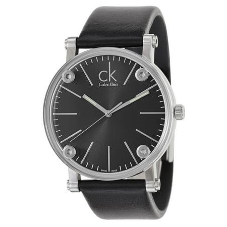 Calvin Klein Black Blazer - Calvin Klein  Men's  'Congent' Black Dial Black Leather Strap Watch