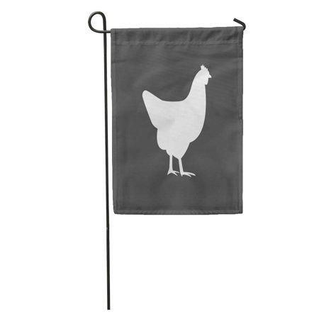 SIDONKU Egg Chicken Silhouette Farm Agriculture Authentic Bird Garden Flag Decorative Flag House Banner 12x18 inch](Birds Silhouette)