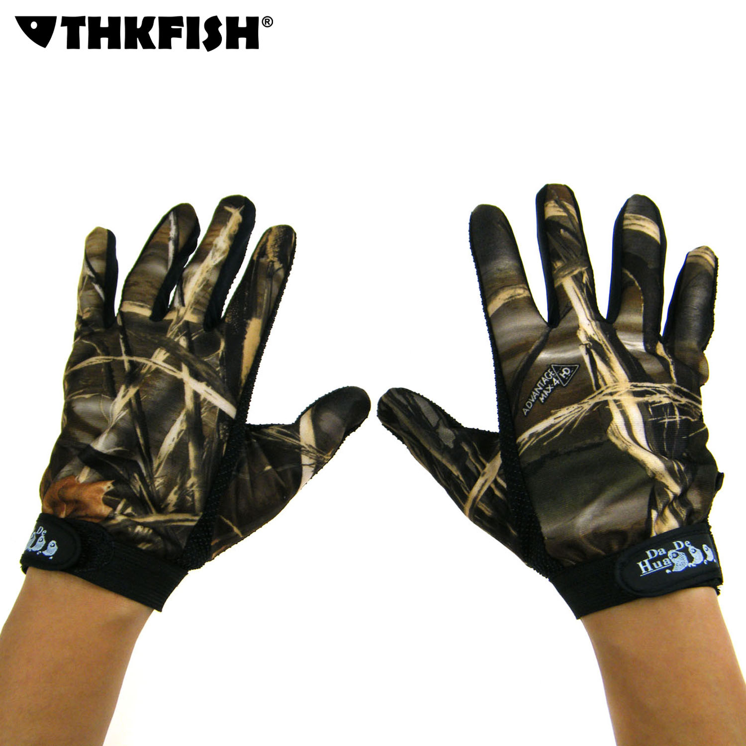 Fishing Gloves 5 Full Finger Camo camouflage Fishing Hunting Gloves Anti Slip Outdoor Sport Gloves by