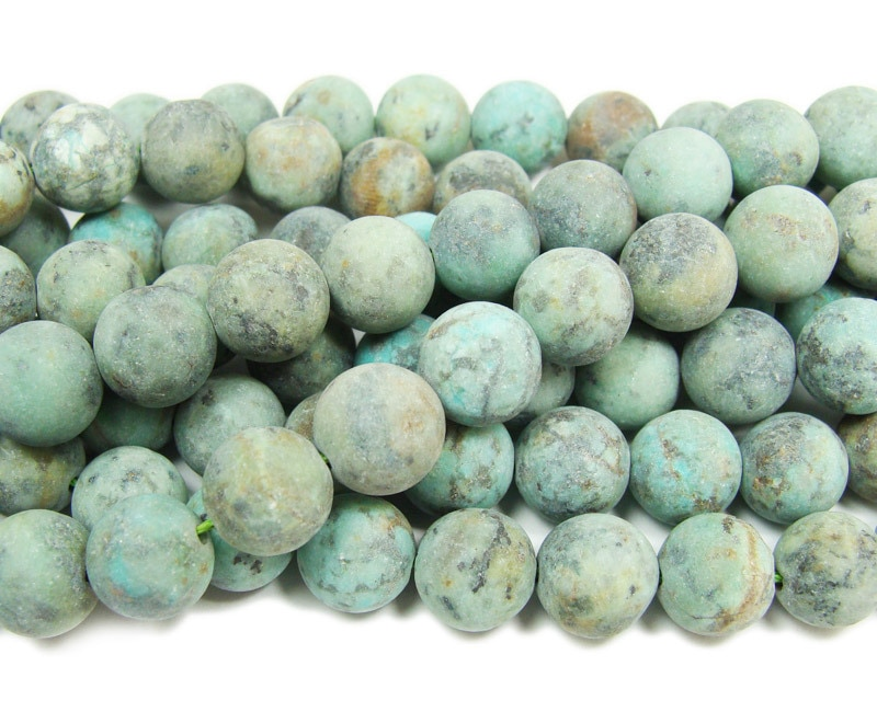 Big Gemstone Beads Beads Supply 15.5 inch Full  Strand 14mm Natural Africa Turquoise Beads Real Turquoise Beads Round Beads