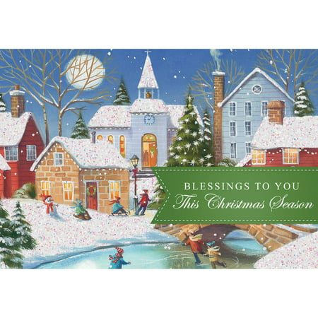 Dayspring Inspirational Boxed Christmas Cards Village Scenes 18pk