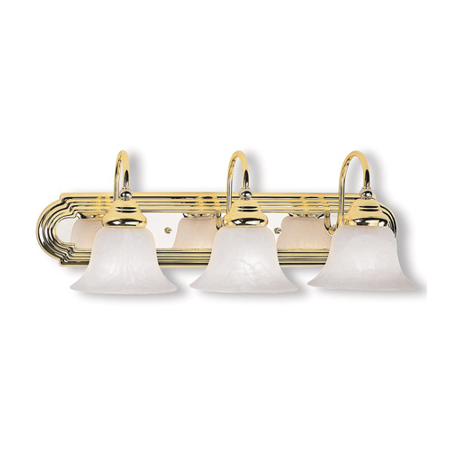 Bathroom Vanity 3 Light With White Alabaster Glass Steel Polished Brass & Chrome size 24 in - World of Crystal Brass Alabaster White Glass