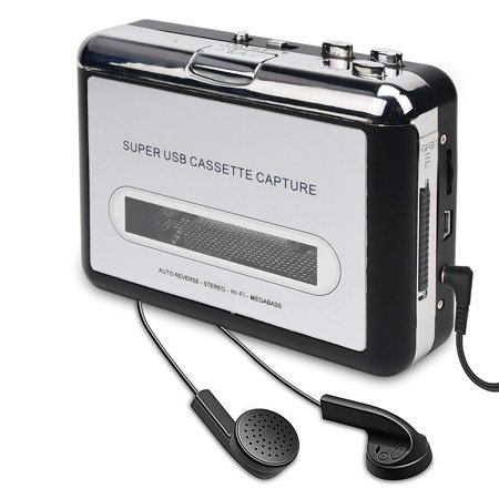 DigitNow Cassette Tape To MP3 CD Converter Via USB,Portable USB Cassette Tape Player Capture MP3 Audio Music,Compatible With Laptop and Personal Computer,Convert Walkman Tape Cassette To MP3