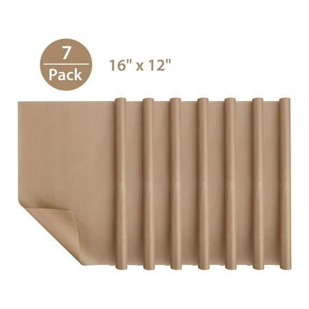 - 7-Pack Teflon Sheet for Heat Press Transfer Sheet, Non Stick PTFE 16