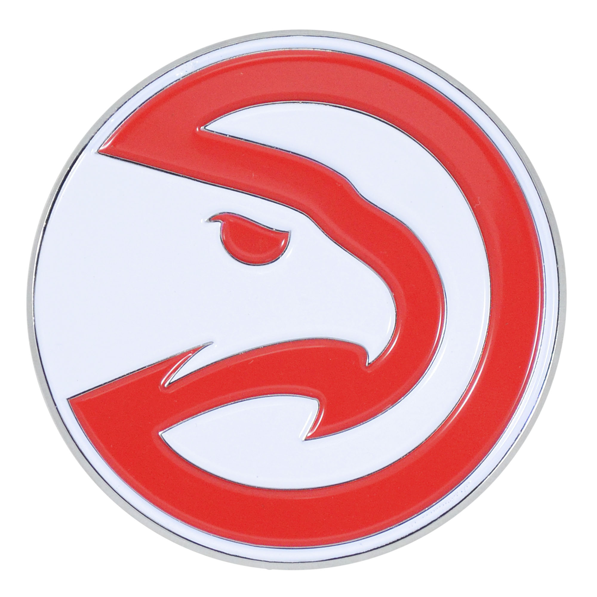 Set of 2 NBA Atlanta Hawks Color Emblem Automotive Stick-On Car Decal