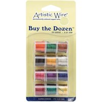 Permanently Colored Copper Wire 5 Yards 12/Pkg