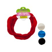 Chenille Spiral Craft Rope - Pack of 12