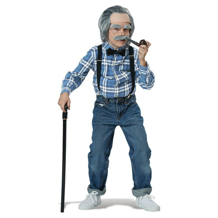 Old Man Costume Kit for Boys - Chinese Male Costume