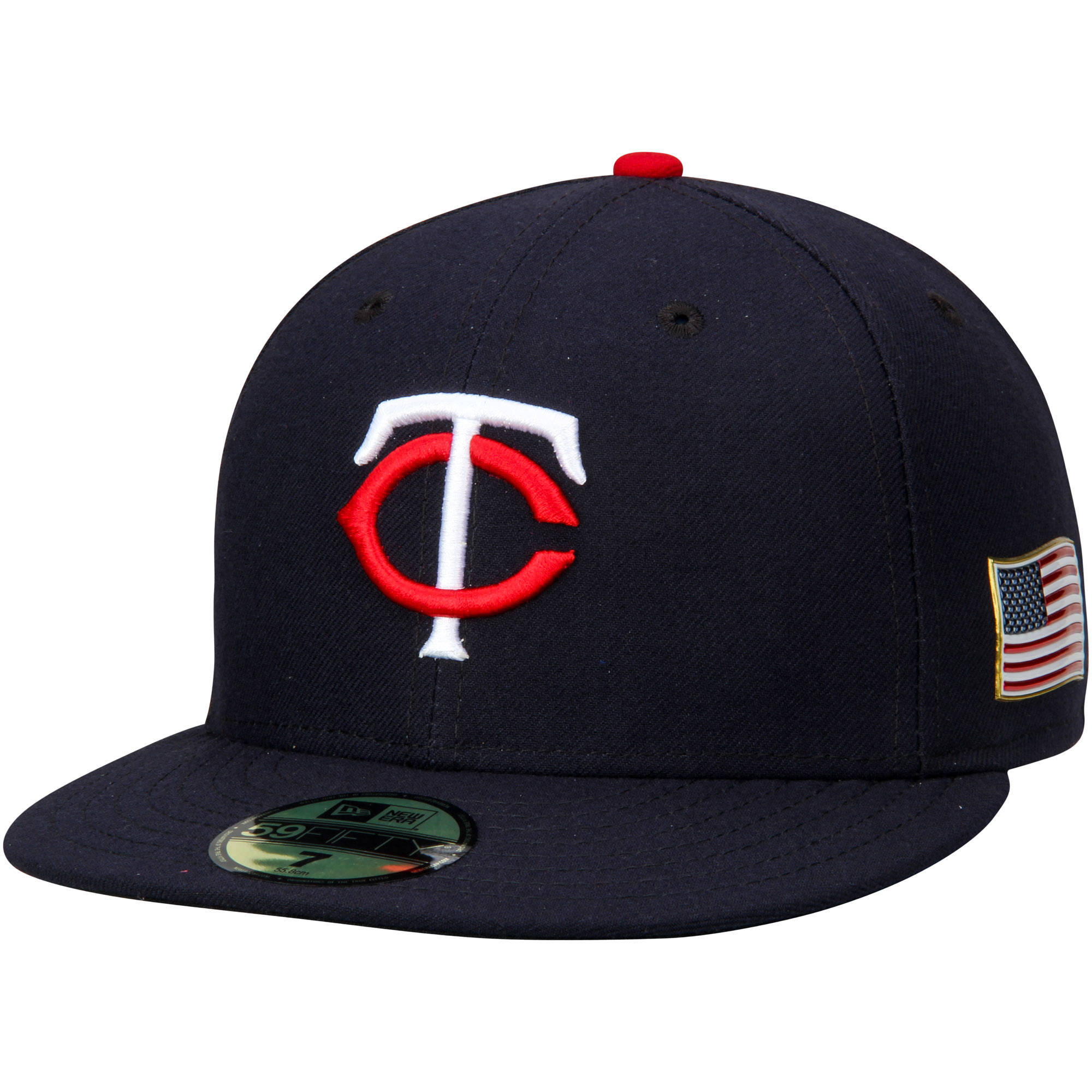 Minnesota Twins New Era Authentic Collection On-Field 59FIFTY Flex Hat with 9/11 Side Patch - Navy