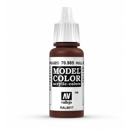 Hull Red Model Color Paint, 17ml By Vallejo