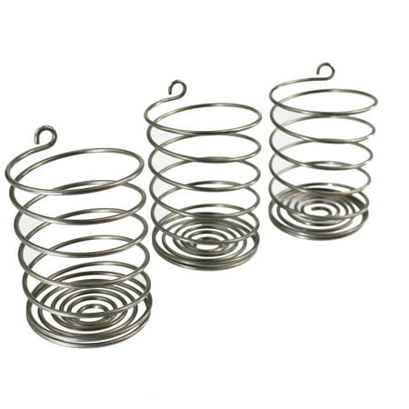 Trellis & Co. Stainless Steel Pickle Helix Fermenter Weight Coils - Pack of 3 – For Wide Mouth Mason Jars Fermenting - Best Way To Hold Vegetables Under Water For