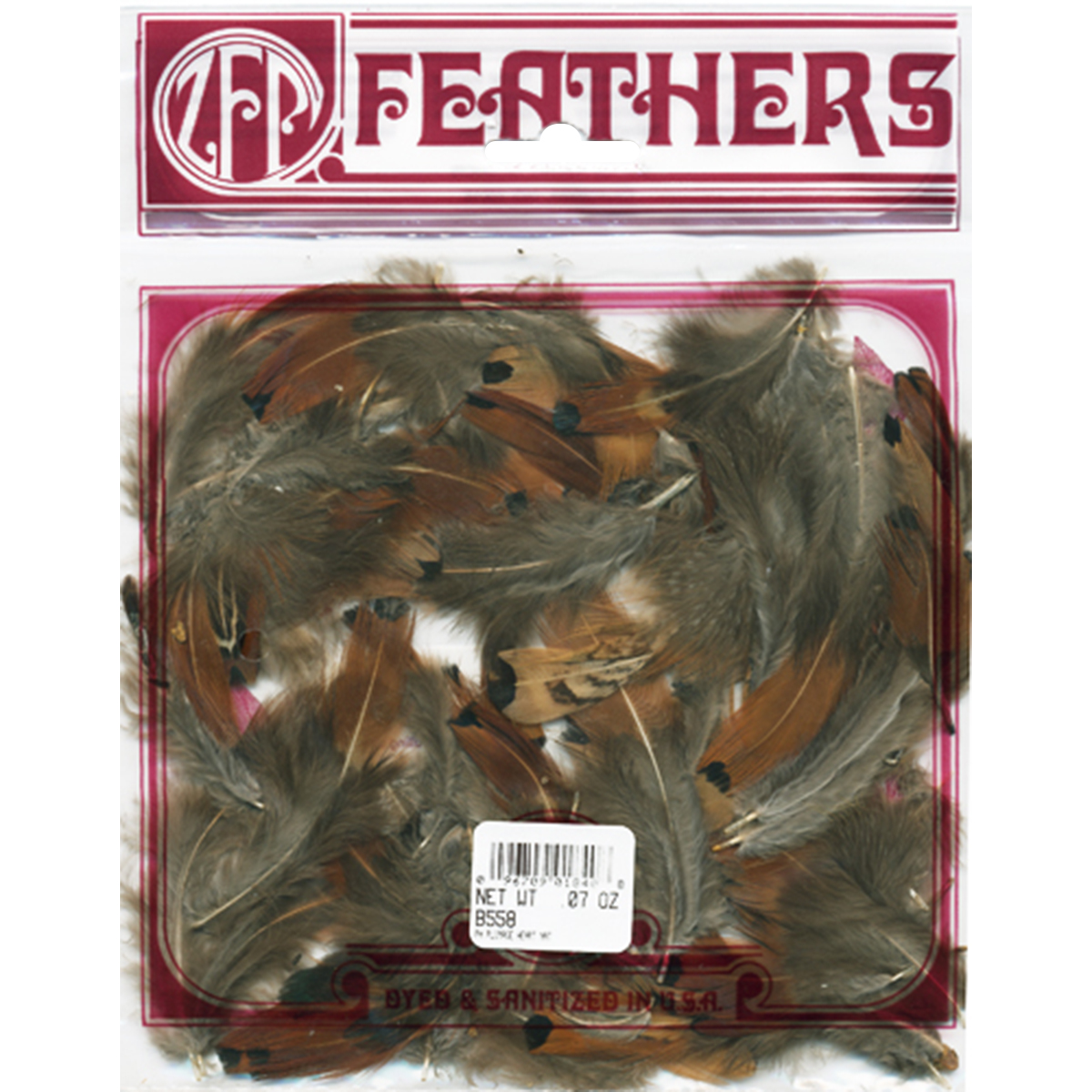 Pheasant Plumage Heart Feathers .07oz-Natural