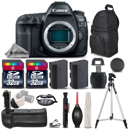 Canon EOS 5D Mark IV GPS/WiFi DSLR Camera + Battery Grip + EXT BATT - 64GB - Ems Gps