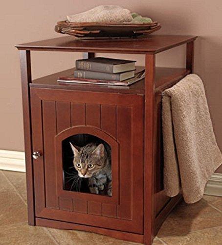 Genial Pet Rite Collection Walnut Cat Washroom Litter Box Cover   Walmart.com