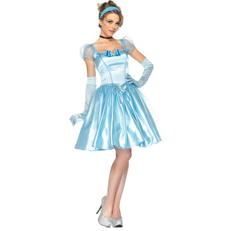 Cinderella Classic Women's Adult Halloween Costume, One Size, L (12-14) (Halloween Games For 12-14 Year Olds)