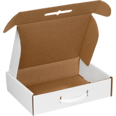 Box Partners Corrugated Carrying Css 12 1 8X9 25X3 White 10 Bdl   Bxp Mcc1