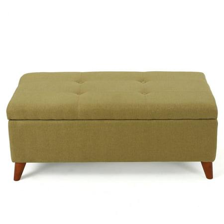 Strange Etoney Mid Century Modern Fabric Storage Ottoman Green Ocoug Best Dining Table And Chair Ideas Images Ocougorg