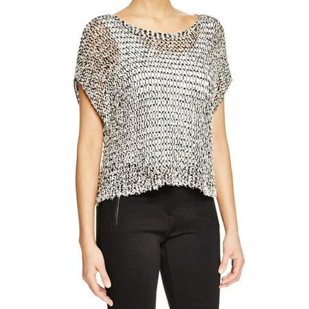 6c3ba6c76a43ec Eileen Fisher - Eileen Fisher NEW Black White Women s Size Small S Open-Knit  Sweater - Walmart.com