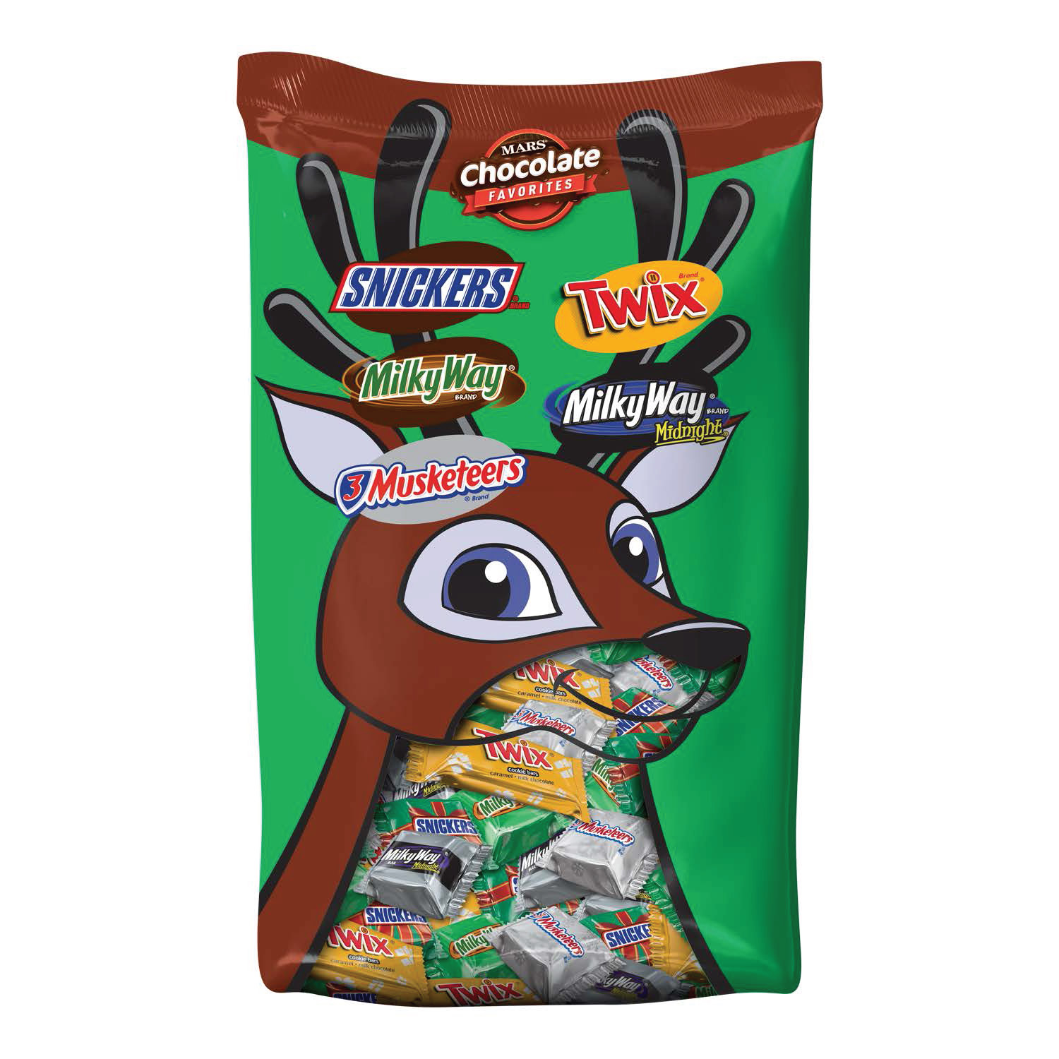 Mars Chocolate, Holiday Minis Size Candy Bars Variety Mix, 37.26 Oz