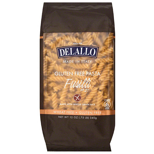 DeLallo Fusilli Gluten Free Pasta, 12 oz, (Pack of 12)