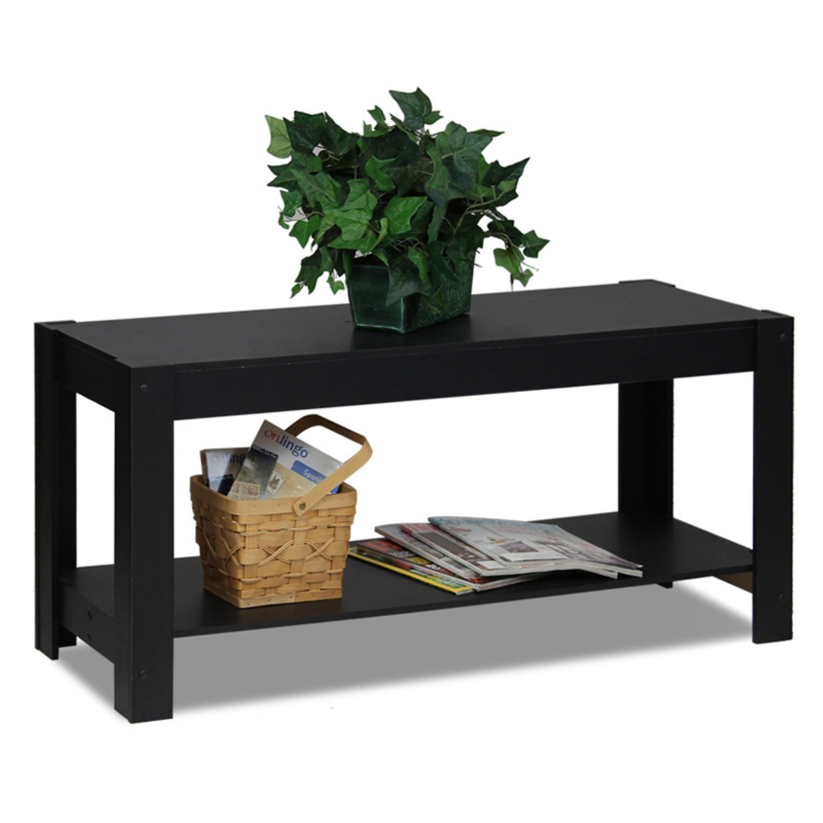Furinno 12125BK Parsons Entertainment Center TV Stand/Coffee Table