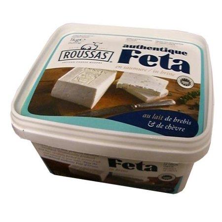 Roussas Greek Feta Cheese, 1 kg (2.2 lb)