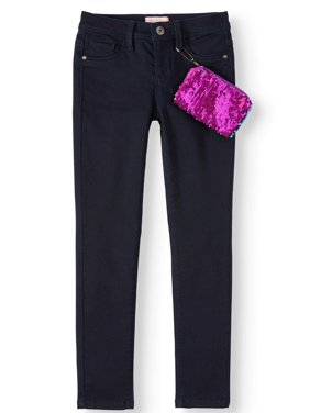 Squeeze Skinny Jean with Flip Sequin Pouch (Little Girls & Big Girls)