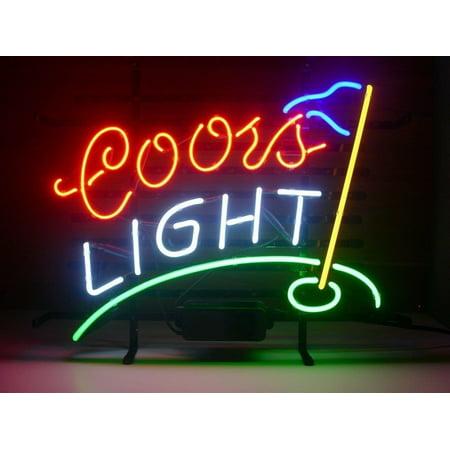 Coors Light Neon Sign - Desung Brand New Coors Light Golf Neon Sign Lamp Glass Beer Bar Pub Man Cave Sports Store Shop Wall Decor Neon Light 20