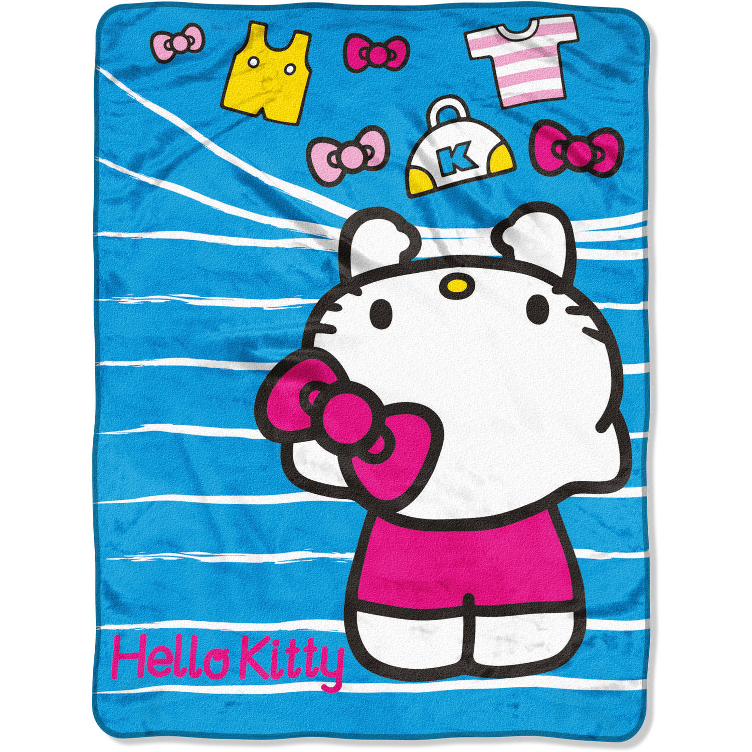 "Sanrio's Hello Kitty ""Hanging Out"" 46"" x 60"" Micro Raschel Throw"