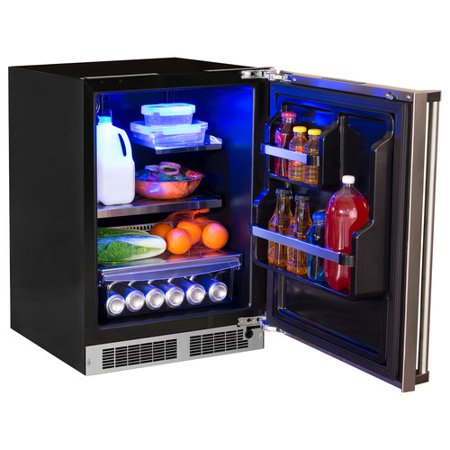 Counter Depth Stainless Refrigerator - Marvel Professional 24-inch 5.1 cu. ft. Undercounter Refrigeration