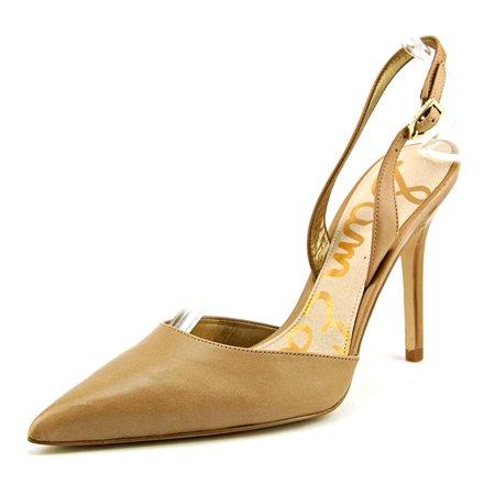 1701082c4e51 Sam Edelman Dora Women Pointed Toe Leather Tan Slingback Heel Image 1 of 5