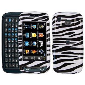 Premium Zebra Print Snap On Hard Shell Case for Samsung Impression - A877 Zebra