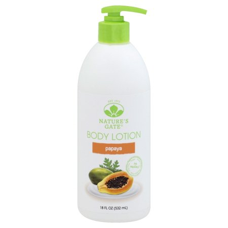 Nature S Gate Papaya Moisturizing Lotion 18 Oz Walmart Com