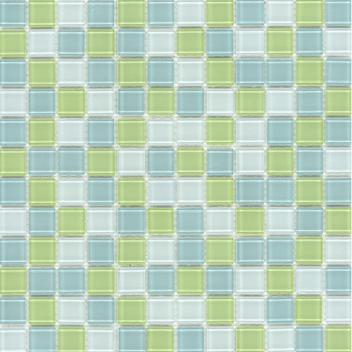 Surfaces Elida Glass Glossy Mosaic in Lime