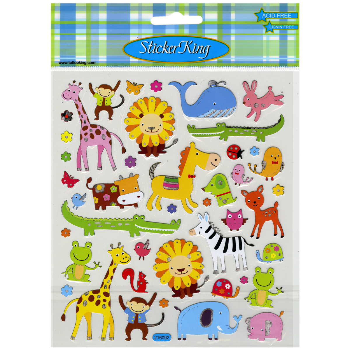 Multicolored Stickers-Animal Menagerie