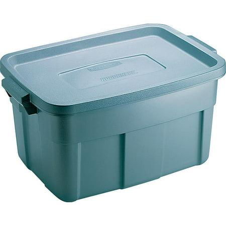Roughneck FG2212CP Storage Tote Box, 14 gal, 23.9 in L x 15.9 in W x 12.2 in H, Polyethylene, Steel