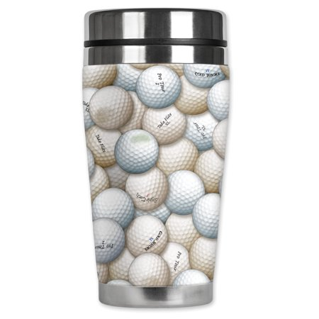 Mugzie brand 16-Ounce Stainless Steel Travel Mug with Insulated Wetsuit Cover - Golf Balls](Kill Bill Suit)