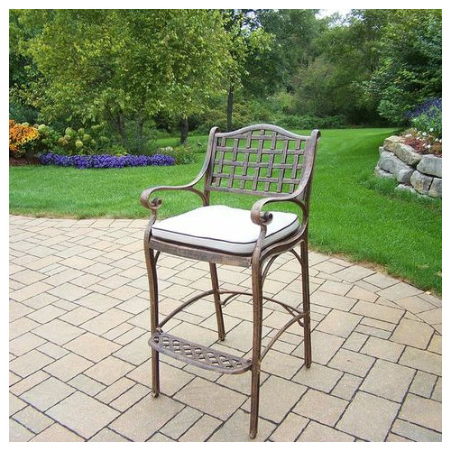 46 in. Outdoor Barstool with Cushion