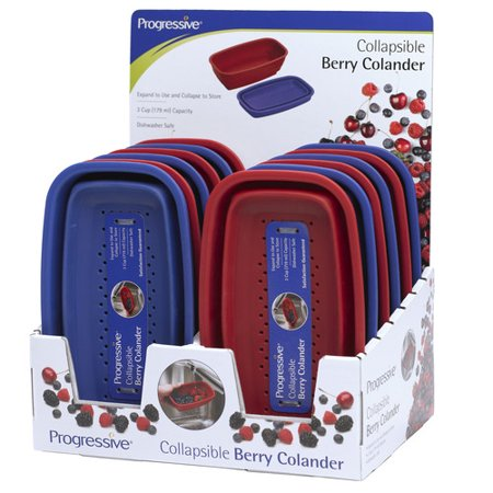 Progressive International 12 Piece Display Collapsible Berry Colander (Set of 12)