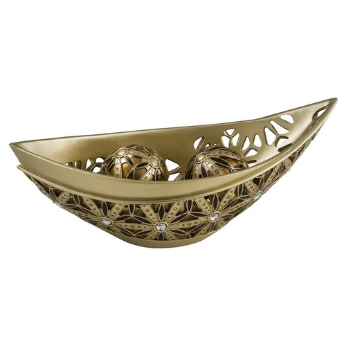 AUTUMN SUNFLOWER DECORATIVE BOWL WITH SPHERES by OK Lighting