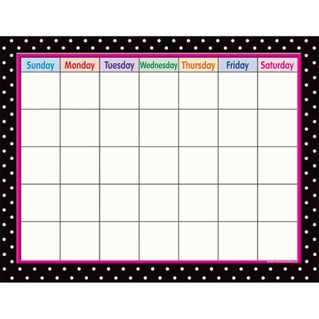 Black Polka Dots Calendar
