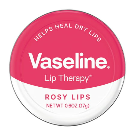 Foot Balm 2 Oz Tin - Vaseline Lip Therapy Lip Balm Tin Rosy Lips 0.6 oz