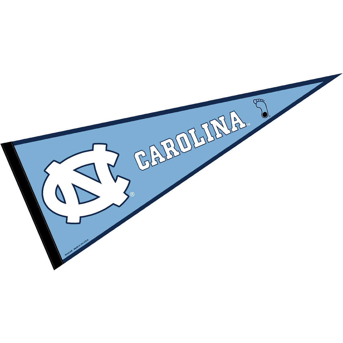 "North Carolina Tar Heels 12"" X 30"" Felt College Pennant"