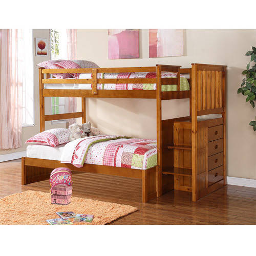 Boraam Twin-over-Full Bunk Bed, Fruitwood, Box 5 of 6