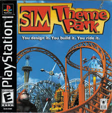 Sim Theme Park- Playstation PS1 (Refurbished)