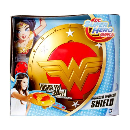 Novelty Character Dress Up and Collectible Toy Mattel DC Comics DC Super Hero Girls Wonder Woman Launch Shield (6pc Set) and Wonder Woman Movie Pop! Vinyl Figure