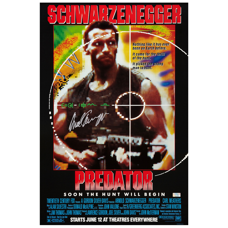 Arnold Schwarzenegger Autographed 16x24 Predator Poster