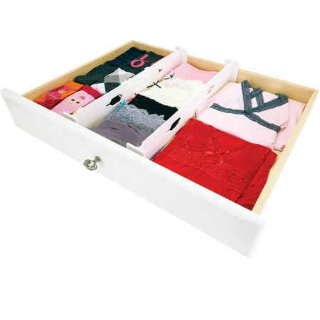 Simplify Adjustable Drawer Organizer, Set of 2 (adjusts - 12.8 to 21.7 inch) ()