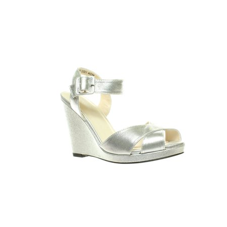 Touch Ups Womens Stormy Silver Sandals Size 8